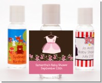 Little Girl Outfit - Personalized Baby Shower Hand Sanitizers Favors