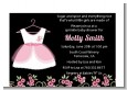 Little Girl Outfit - Baby Shower Petite Invitations thumbnail