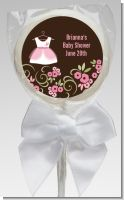 Little Girl Outfit - Personalized Baby Shower Lollipop Favors