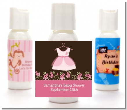 Little Girl Outfit - Personalized Baby Shower Lotion Favors