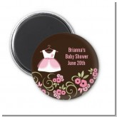 Little Girl Outfit - Personalized Baby Shower Magnet Favors