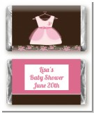 Little Girl Outfit - Personalized Baby Shower Mini Candy Bar Wrappers