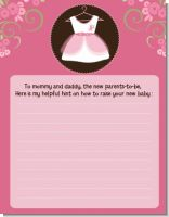 Little Girl Outfit - Baby Shower Notes of Advice