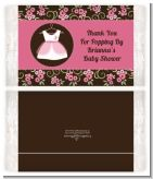 Little Girl Outfit - Personalized Popcorn Wrapper Baby Shower Favors