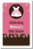 Little Girl Outfit - Custom Large Rectangle Baby Shower Sticker/Labels