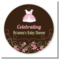 Little Girl Outfit - Personalized Baby Shower Table Confetti thumbnail