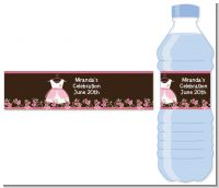 Little Girl Outfit - Personalized Baby Shower Water Bottle Labels