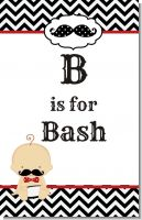 Little Man Mustache Black/Grey - Personalized Baby Shower Nursery Wall Art