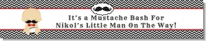Little Man Mustache Black/Grey - Personalized Baby Shower Banners