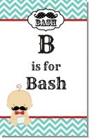 Little Man Mustache - Personalized Baby Shower Nursery Wall Art