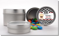 Little Man Mustache Black/Grey - Custom Baby Shower Favor Tins