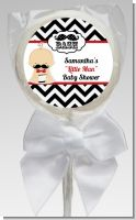 Little Man Mustache Black/Grey - Personalized Baby Shower Lollipop Favors