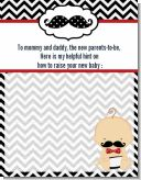 Little Man Mustache Black/Grey - Baby Shower Notes of Advice