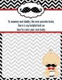 Little Man Mustache Black/Grey - Baby Shower Notes of Advice thumbnail