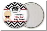 Little Man Mustache Black/Grey - Personalized Baby Shower Pocket Mirror Favors