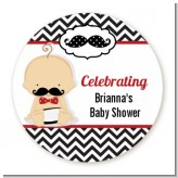Little Man Mustache Black/Grey - Personalized Baby Shower Table Confetti
