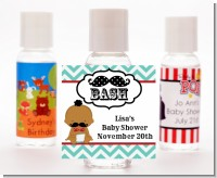 Little Man Mustache - Personalized Baby Shower Hand Sanitizers Favors