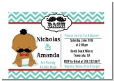 Little Man Mustache - Baby Shower Petite Invitations