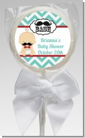 Little Man Mustache - Personalized Baby Shower Lollipop Favors