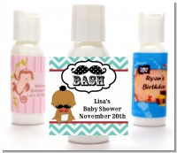 Little Man Mustache - Personalized Baby Shower Lotion Favors