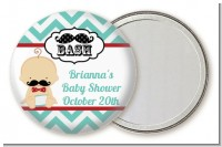 Little Man Mustache - Personalized Baby Shower Pocket Mirror Favors