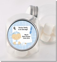 Little Doctor On The Way - Personalized Baby Shower Candy Jar