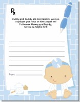 Little Doctor On The Way - Baby Shower Notes of Advice