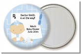 Little Doctor On The Way - Personalized Baby Shower Pocket Mirror Favors