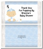 Little Doctor On The Way - Personalized Popcorn Wrapper Baby Shower Favors