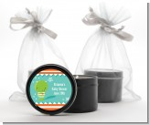 Little Monster - Birthday Party Black Candle Tin Favors