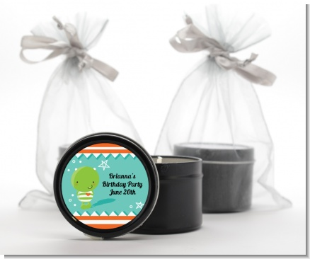 Little Monster Baby Shower Black Candle Tin Favors