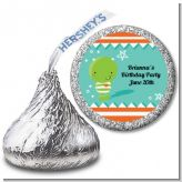 Little Monster - Hershey Kiss Birthday Party Sticker Labels