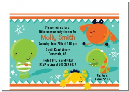 Little Monster - Birthday Party Petite Invitations