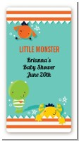 Little Monster - Custom Rectangle Baby Shower Sticker/Labels