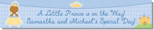 Little Prince African American - Personalized Baby Shower Banners