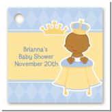 Little Prince African American - Personalized Baby Shower Card Stock Favor Tags