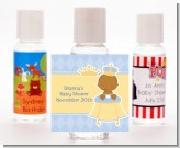 Little Prince African American - Personalized Baby Shower Hand Sanitizers Favors