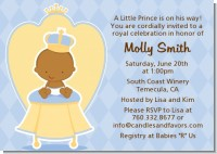 Little Prince African American - Baby Shower Invitations