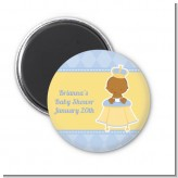 Little Prince African American - Personalized Baby Shower Magnet Favors