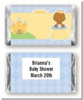 Little Prince African American - Personalized Baby Shower Mini Candy Bar Wrappers