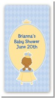 Little Prince African American - Custom Rectangle Baby Shower Sticker/Labels
