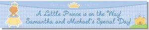 Little Prince Hispanic - Personalized Baby Shower Banners