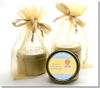 Little Prince Hispanic - Baby Shower Gold Tin Candle Favors
