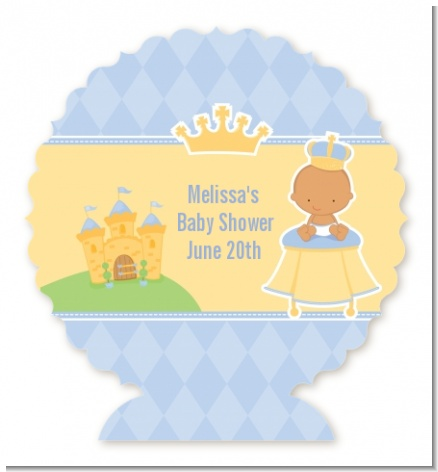 Little Prince Hispanic - Personalized Baby Shower Centerpiece Stand