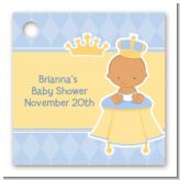 Little Prince Hispanic - Personalized Baby Shower Card Stock Favor Tags