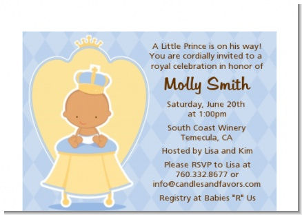 Little Prince Hispanic - Baby Shower Petite Invitations