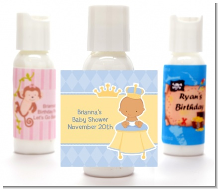 Little Prince Hispanic - Personalized Baby Shower Lotion Favors