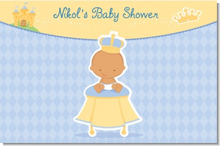 Little Prince Hispanic - Personalized Baby Shower Placemats
