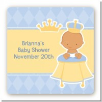 Little Prince Hispanic - Square Personalized Baby Shower Sticker Labels