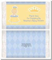 Little Prince - Personalized Popcorn Wrapper Baby Shower Favors